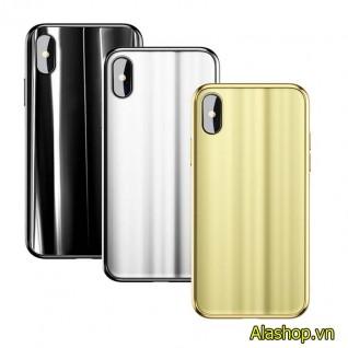 Ốp lưng iPhone X 3D tráng gương