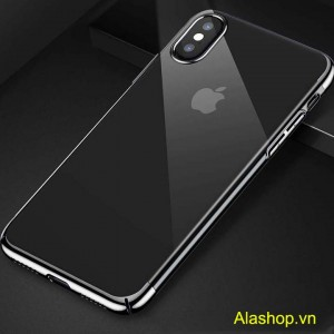 ốp lưng iphone x dẻo trong suốt mạ si