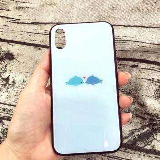 Ốp lưng iPhone X hình cá lưng kính