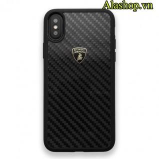 ốp lưng iPhone x Lamborghini Carbon Fiber chính hãng