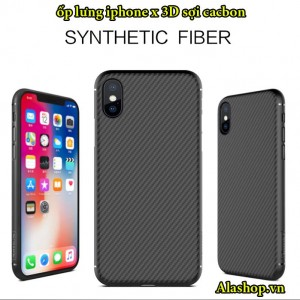 ốp lưng iphone x nillkin synthetic fiber carbon