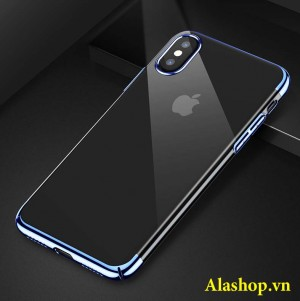 ốp lưng iPhone x trong suốt mạ crom