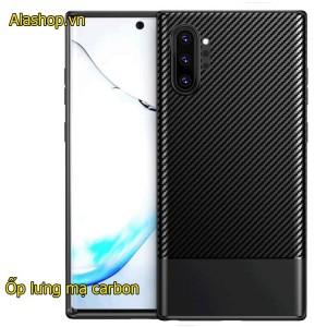 Ốp lưng samsung Note 10 Plus TPU carbon fiber