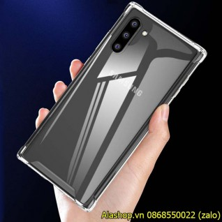 Ốp lưng samsung Note 10 trong suốt chống sốc
