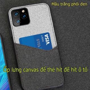 Ốp lưng vải canvas iphone 11/11 pro max max để thẻ + hít đế hít