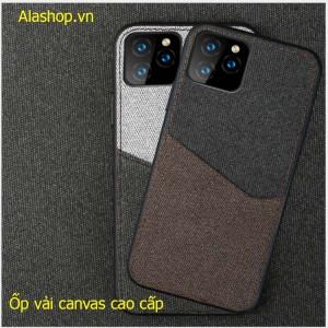 Ốp lưng vải iphone 11/11 pro max max để thẻ + hít đế hít canvas cao cấp