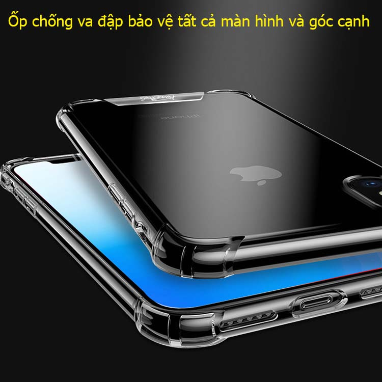 Ốp lưng iPhone X/ XS/ XR trong suốt chống sốc